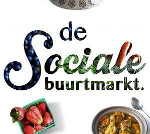 Sociale buurtmarkt beeldmerk